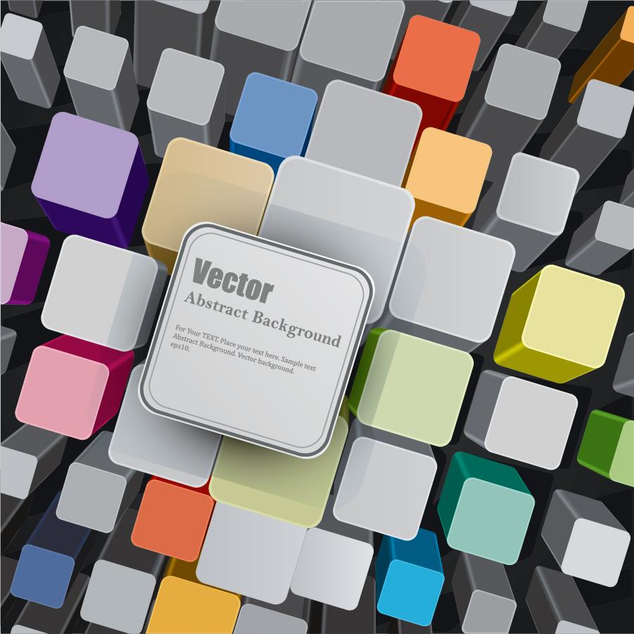 立体的なキューブの背景 3D Cube Vector Background イラスト素材