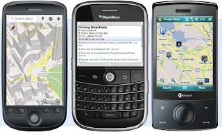 Google Maps Handler Java for mobile phone