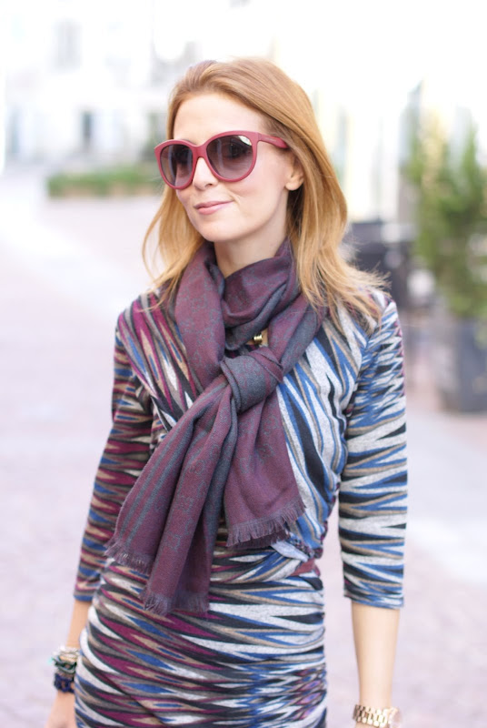Dolce e Gabbana sunglasses, Chanel Rouge Coco 45 lipstick