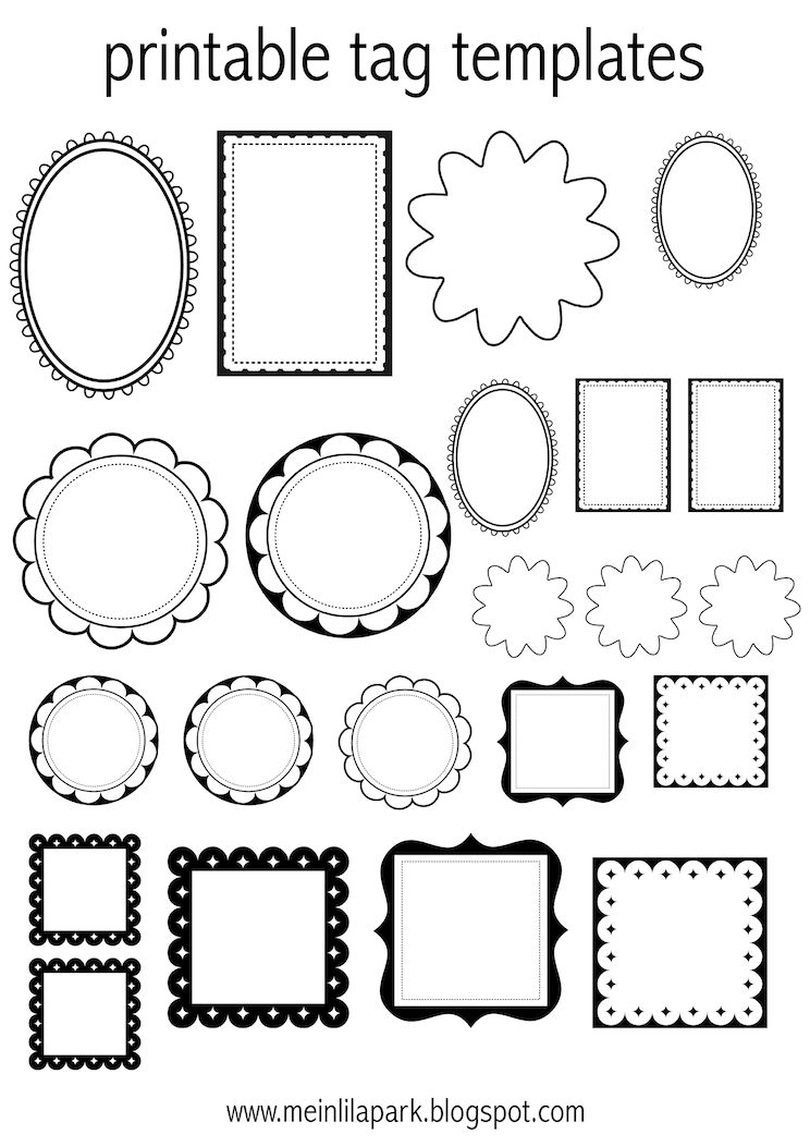 Rare image inside free printable tags templates