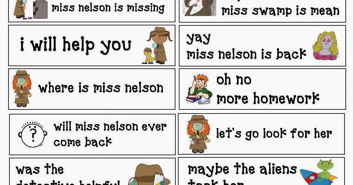 Classroom Freebies Miss Nelson Is Missing Punctuation Cards – Miss Nelson is Missing Worksheets
