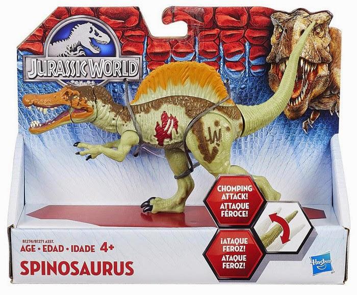 JUGUETES - JURASSIC WORLD  Spinosaurus | Dinosaurio | Figura - Muñeco  Producto Oficial Película 2015 | Hasbro B1274 | A partir de 4 años