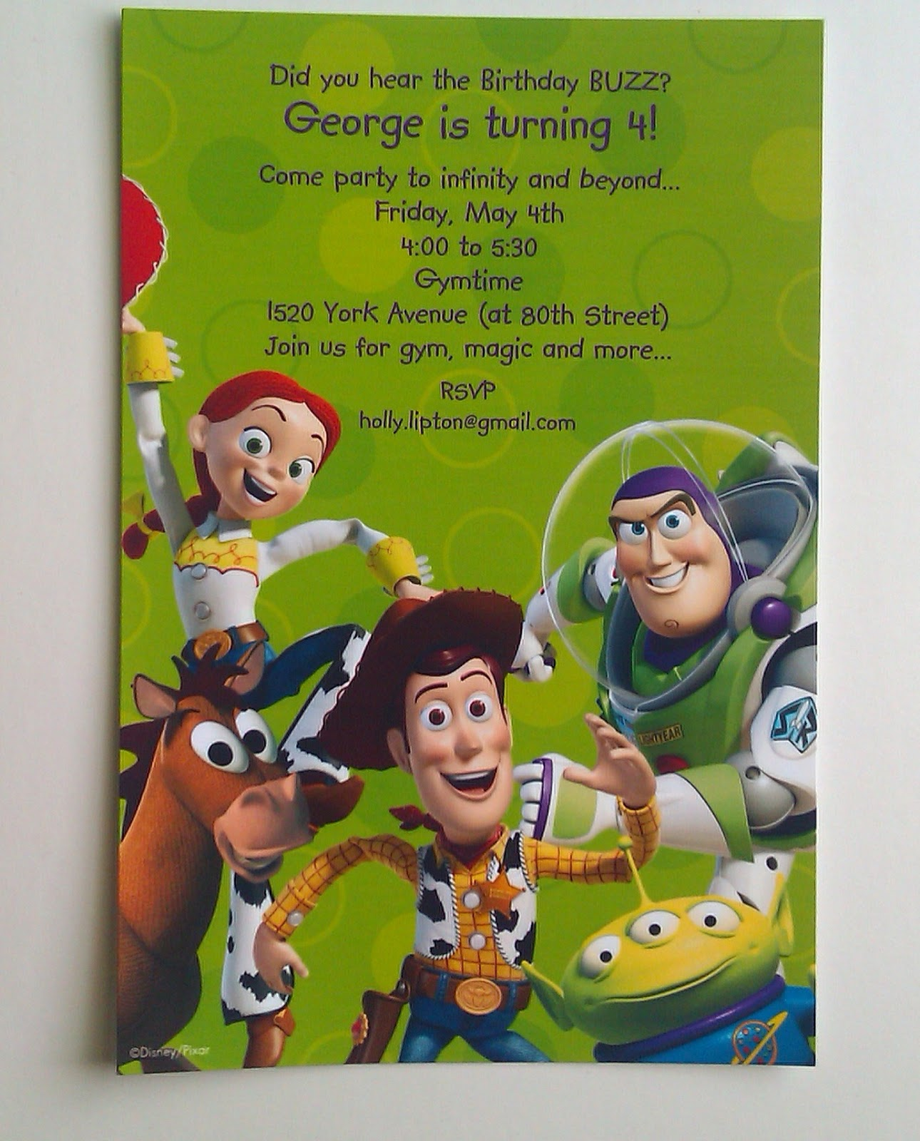 perfect parties by mail toy story invitations