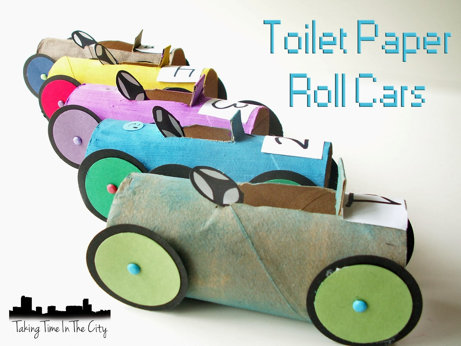 Taking Time In The City Toilet Paper Roll Cars