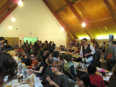 One of the larger rooms with tables