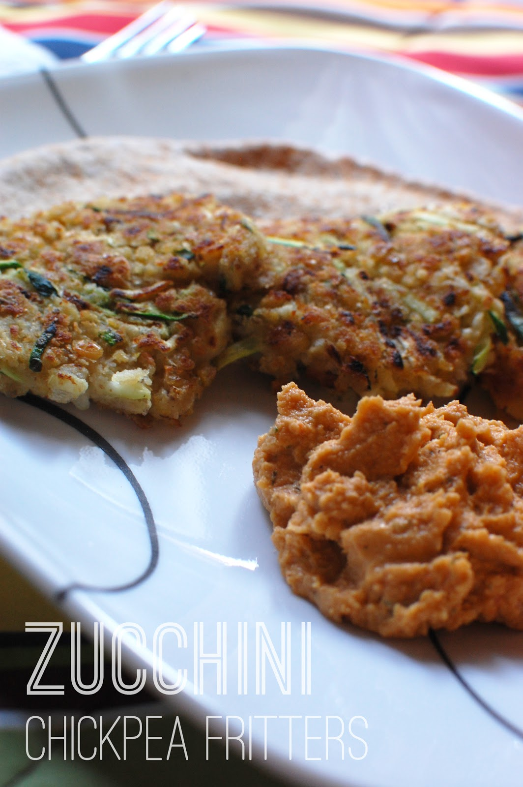VeganFling: Zucchini Chickpea Fritters