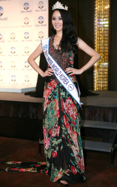 Miss World Korea 2012 winner Kim Sung Seong Min