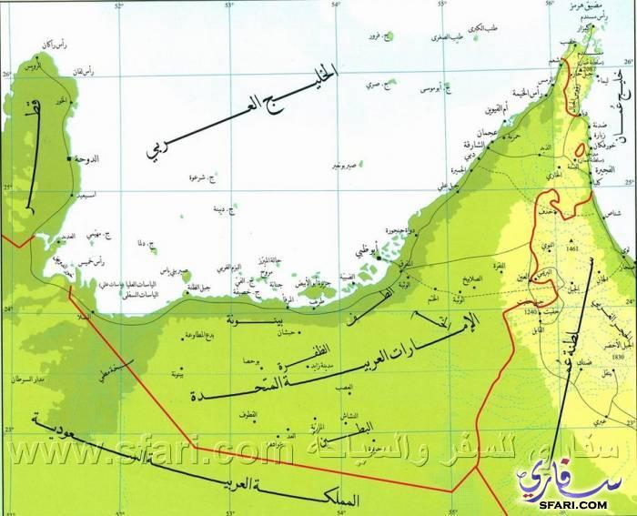 خريطة دولة الإمارات العربية المتحدة