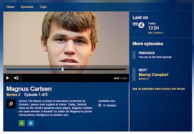 Magnus Carlsen était hier l'invité de l'émission