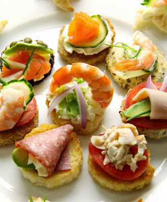 simple and super easy baby shower food ideas, dessert inspirations - Delicious plate of assorted tidbits