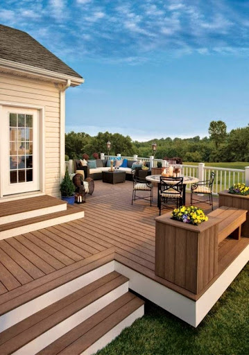Decorate the backyard with deck and patio ideas for Decks and patios design ideas