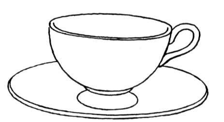 Xícara de café Desenhos de Comida para Colorir - imagens para colorir xicara
