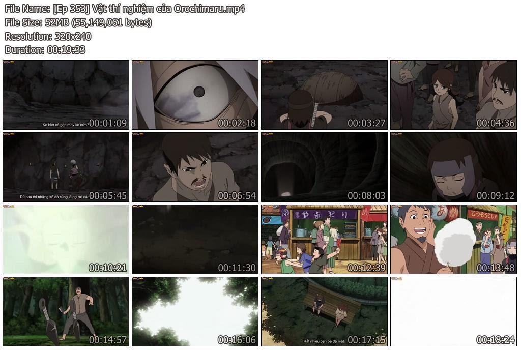 [Naruto Shippuuden Ep 353] Vật thí nghiệm của Orochimaru