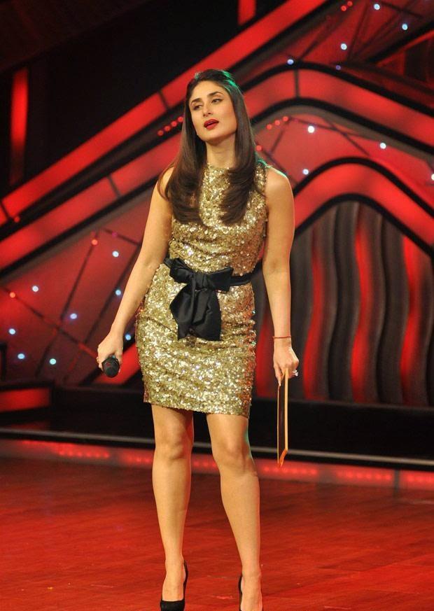 Kareena Kapoor Khan in golden mini skirt looks very sexy hot exposing her juicy milky thighs mini skirt felws up upskirt pics hd hot pics