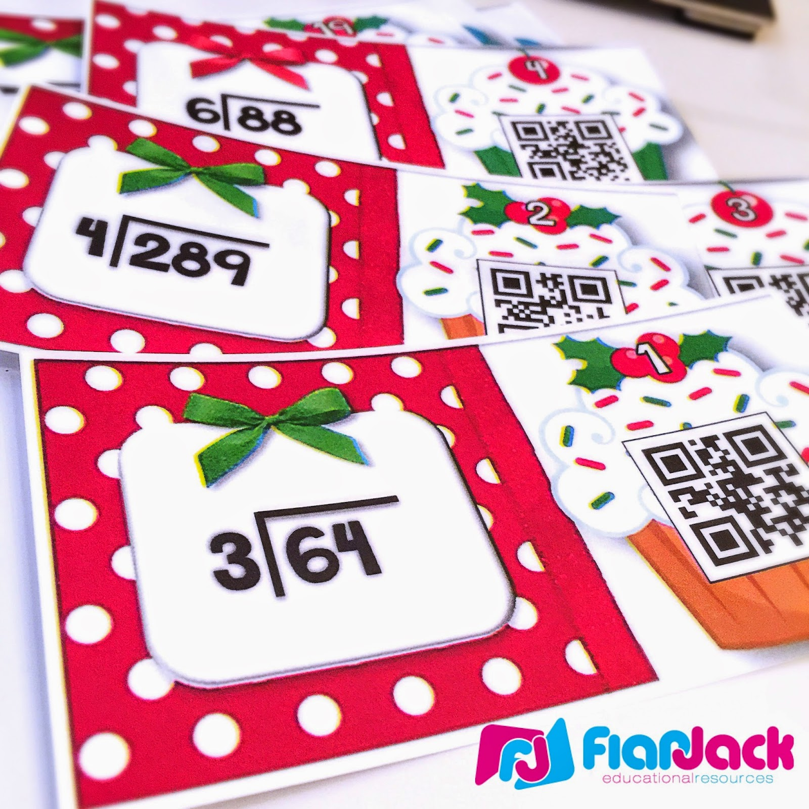 http://www.teacherspayteachers.com/Product/Holiday-Cupcakes-Long-Division-QR-Code-Task-Cards-1563263