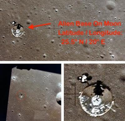 ovni real en la luna