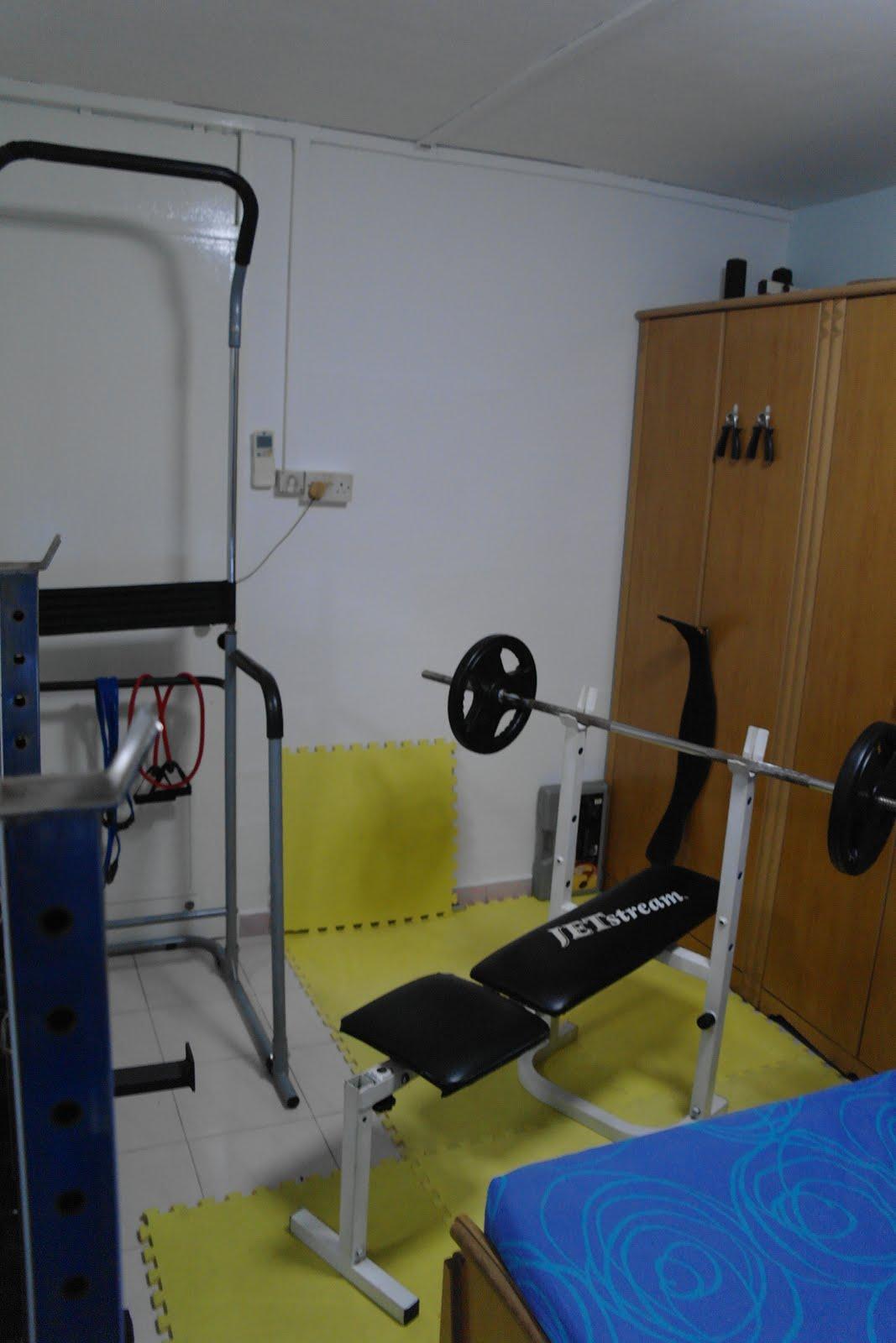 Singapore home gym my arrangement chest workout