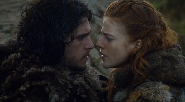 Jon Nieve e ygritte casi beso - juego de Tronos en los siete reinos