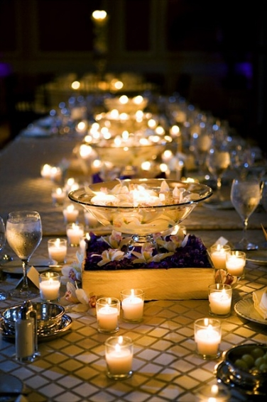 For the reception you will want to add candles or fireless candles to all of