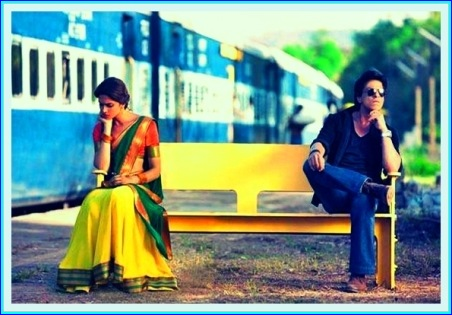 Shahrukh khan and Deepika Padukone in chennai express