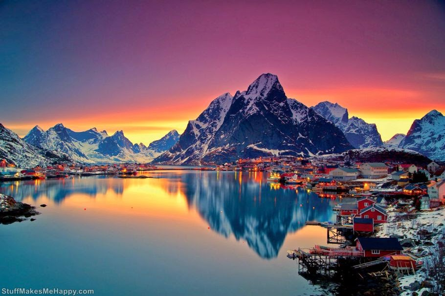 1. Because sunsets in Norway look like