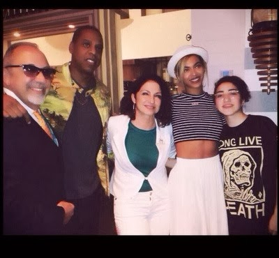 Beyonce, Jay Z, Ryan Phillippe and Gloria Estefan dining at Seasalt and Pepper in Miami‏