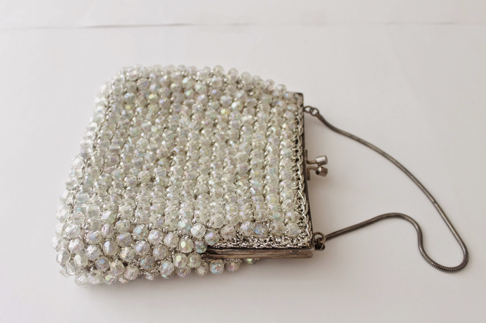 1950s iridescent evening handbag