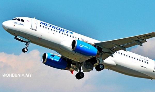 Pesawat Airbus A321 #7K9268 Rusia bawa 217 penumpang, 7 anak kapal Terhempas