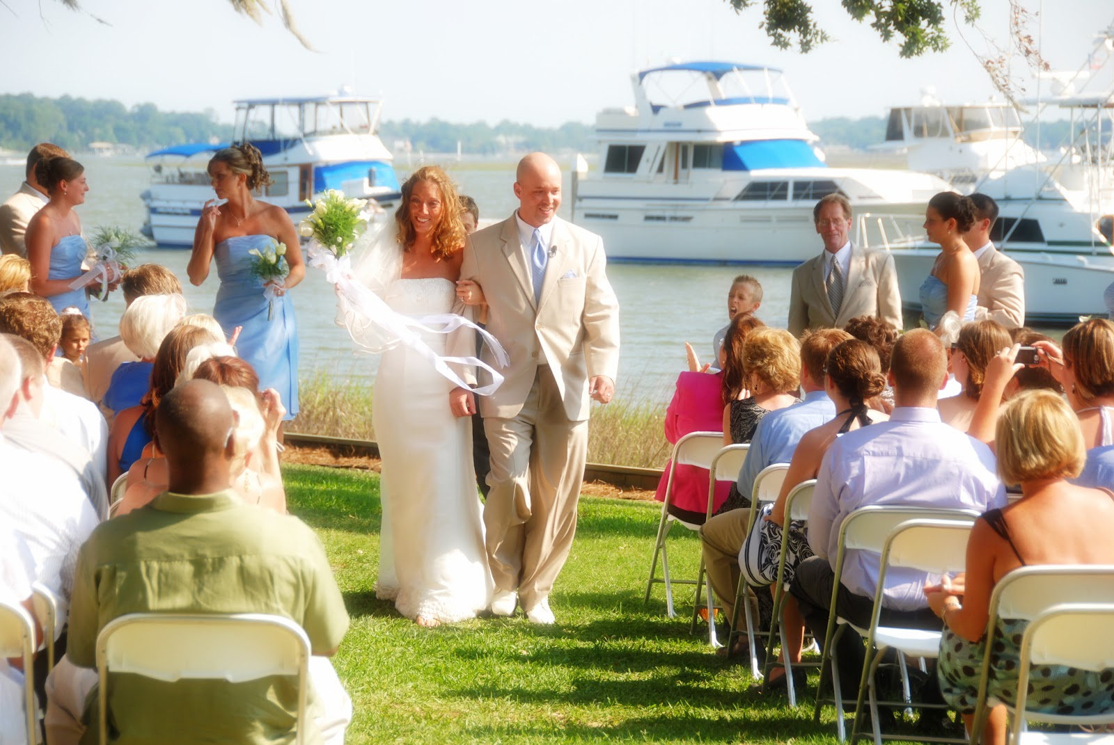 Here Is A Wedding We Did At The Savannah Yacht Club Weather Was Perfect In June And Bride Glowing Groom Could Not Take His Eyes Off Her