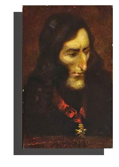 Niccolò Paganini,Italian violinist - Antique Unused Austrian Artist Portrait Postcard, ca. 1900, Bruder Kohn