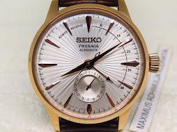 SEIKO PRESAGE WHITE SILVER TEXTURED DIAL ROSEGOLD - SEIKO SSA346J1 - AUTOMATIC 4R57A