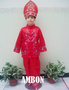 Jual Baju Adat Ambon Untuk Anak Putra