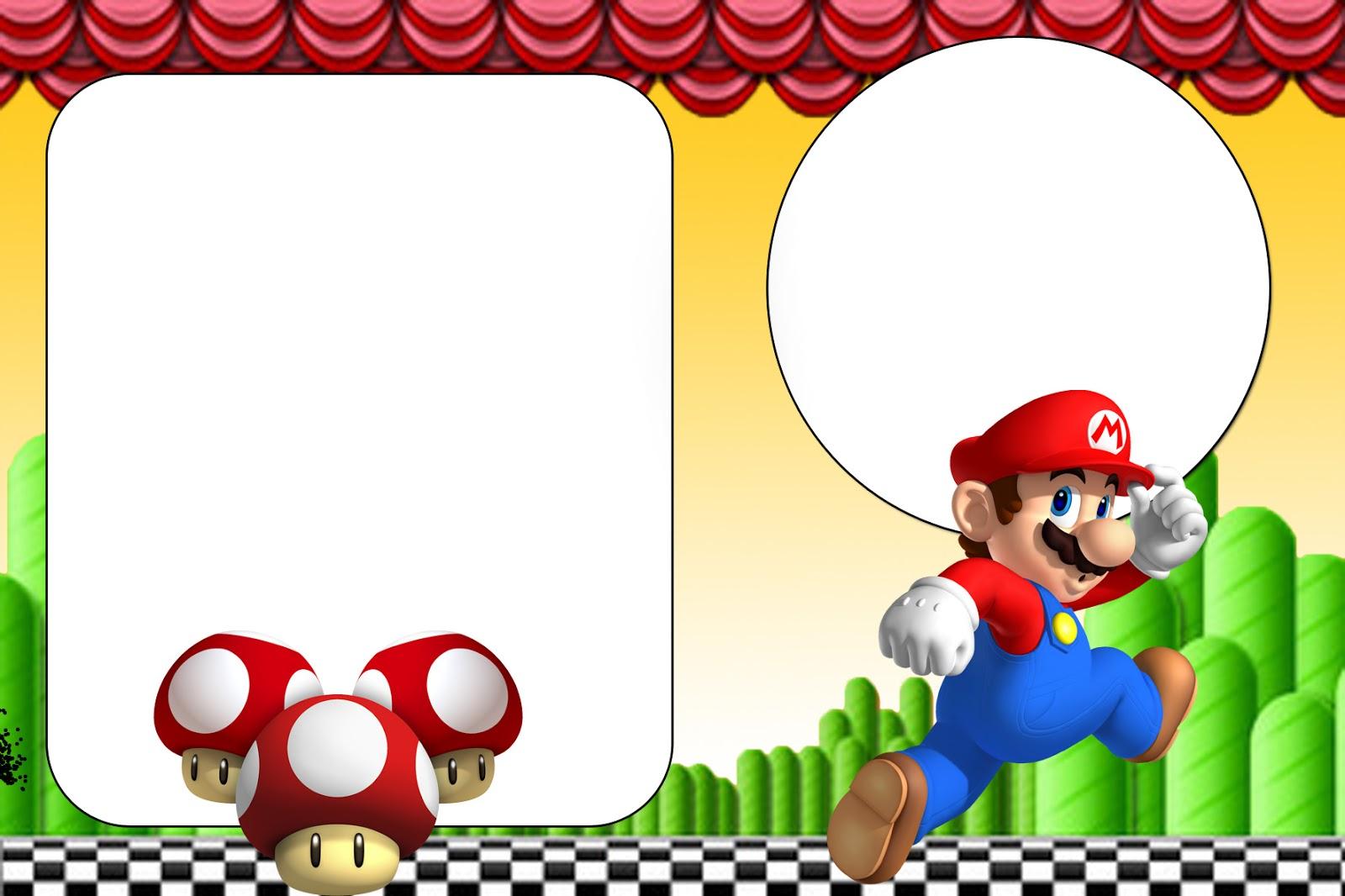 Mario And Luigi Invitations as Cool Sample To Create Best Invitation Template
