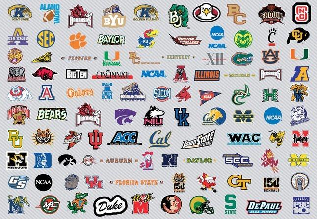 Free Vector NCAA Basketball Logos Graphics