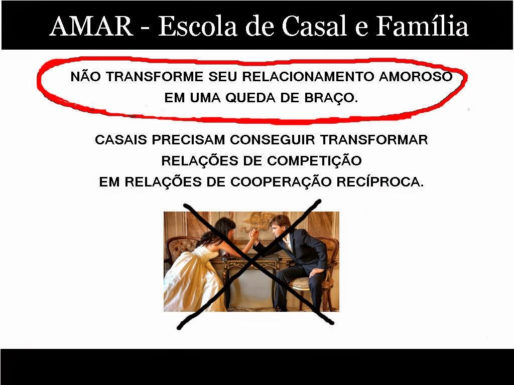 NÃO TRANSFORME SE RELACIONAMENTO EM UMA QUEDA DE BRAÇO