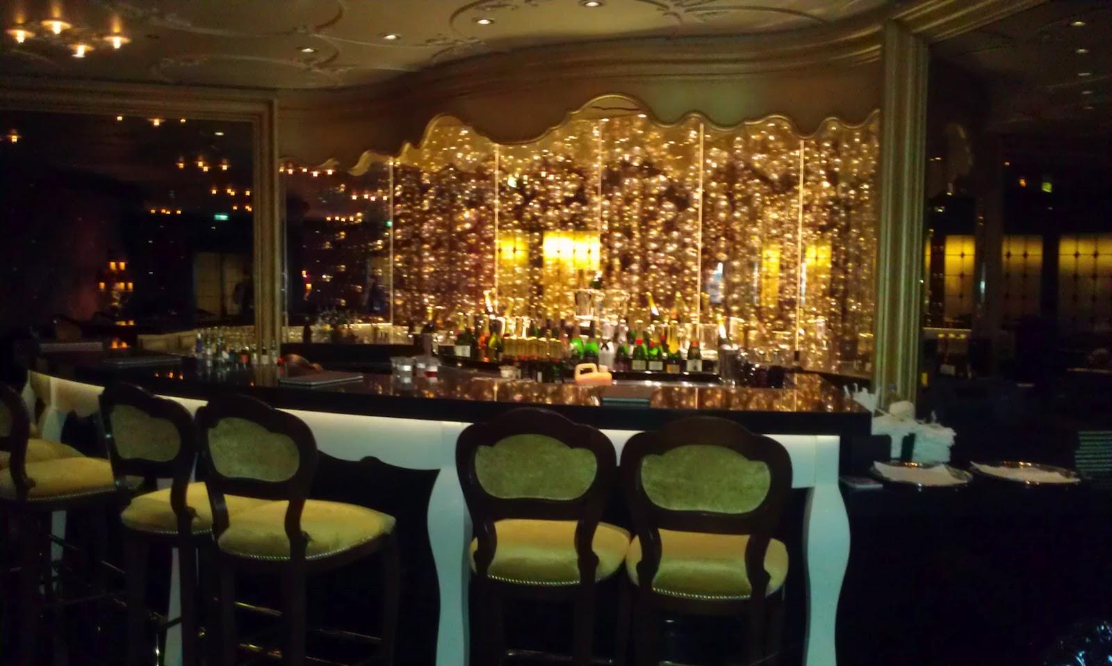 Ooh La La champagne bar Disney Fantasy Cruise ship