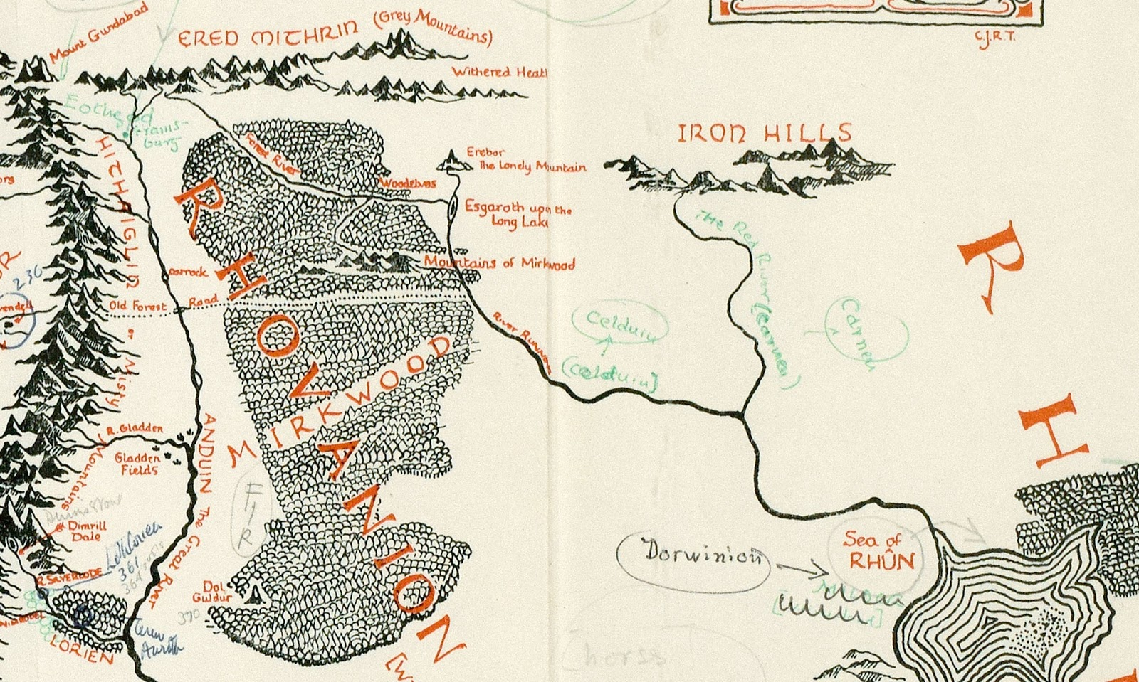 Musings of a Tolkienist: Middle-earth Map Annotated by Tolkien ...