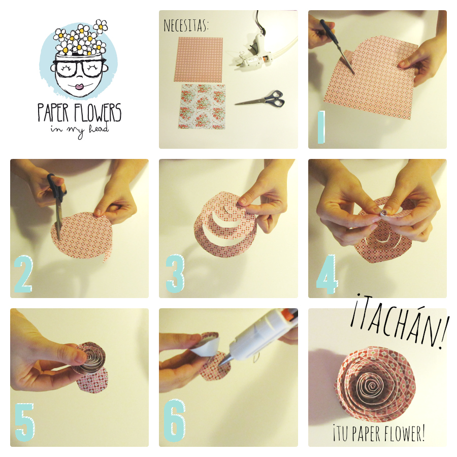 tutorial flores de papel