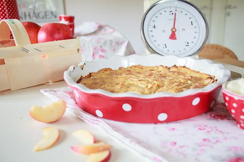 Amalie loves Denmark Leckere Apfelkuchen mit Sahne