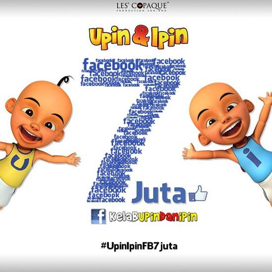 7 Juta FB Likes - Tahniah Upin dan Ipin