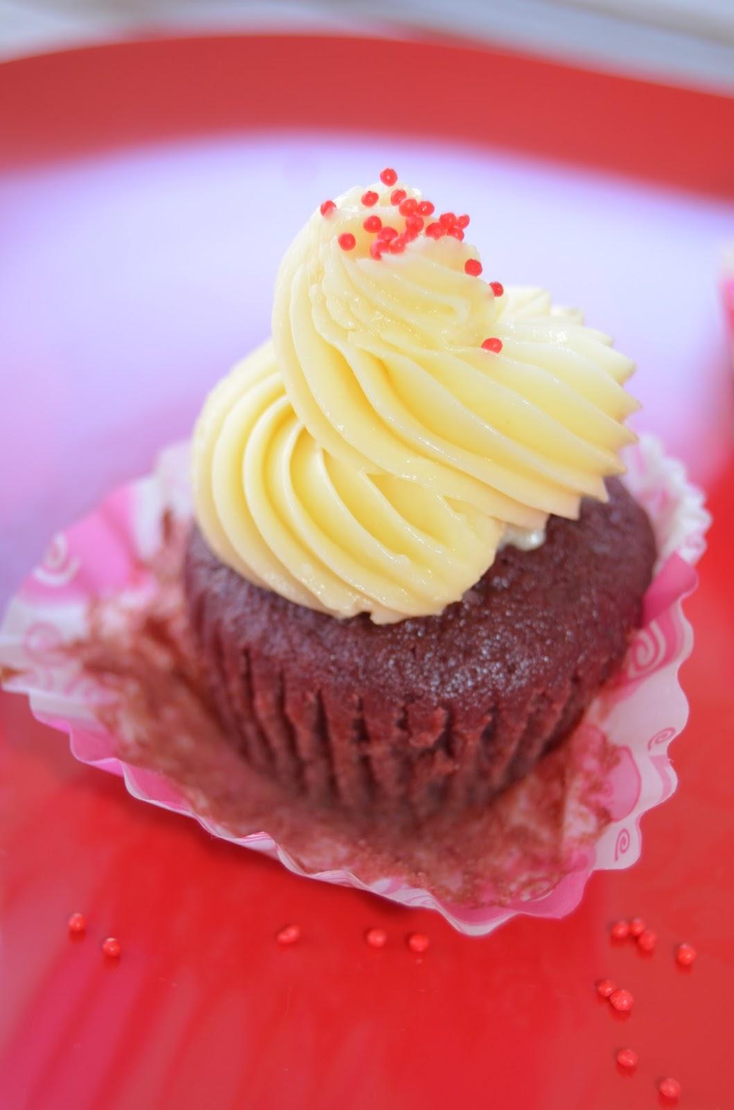Red Velvet Cupcake con Remolacha y Queso Mascarpone