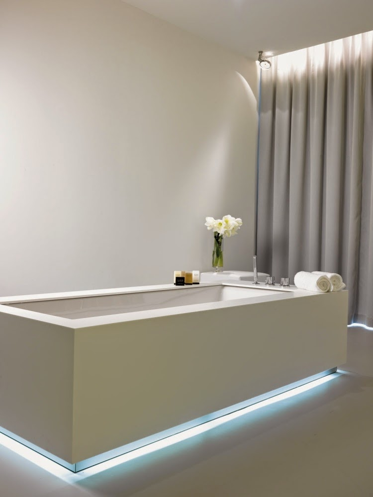 Led Bathroom Lights In Bath Panel Elegant Modern Bathroom Lighting Ideas: Led  Bathroom Lights