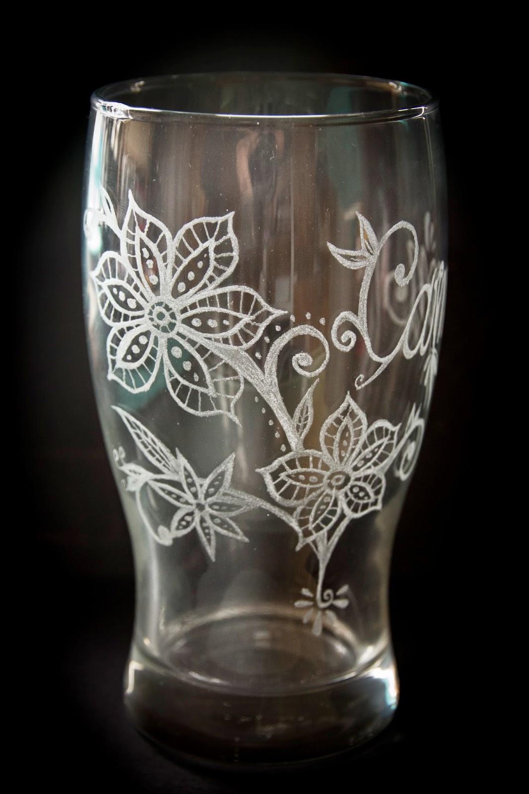 Fundas de cuero cuadros y demas artesanias vasos de cristal grabados - Vasos grandes cristal ...