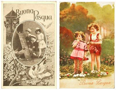 Due cartoline Buona Pasqua 1921 - 1938