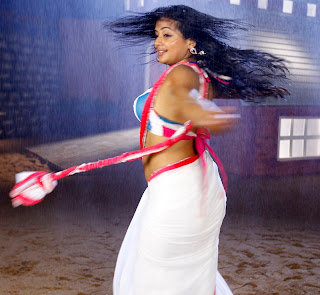 Priyamani Spicy Dance in a White wet saree and Colorful Blouse