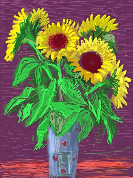 Untitled, a 2009 iPad drawing by David Hockney.
