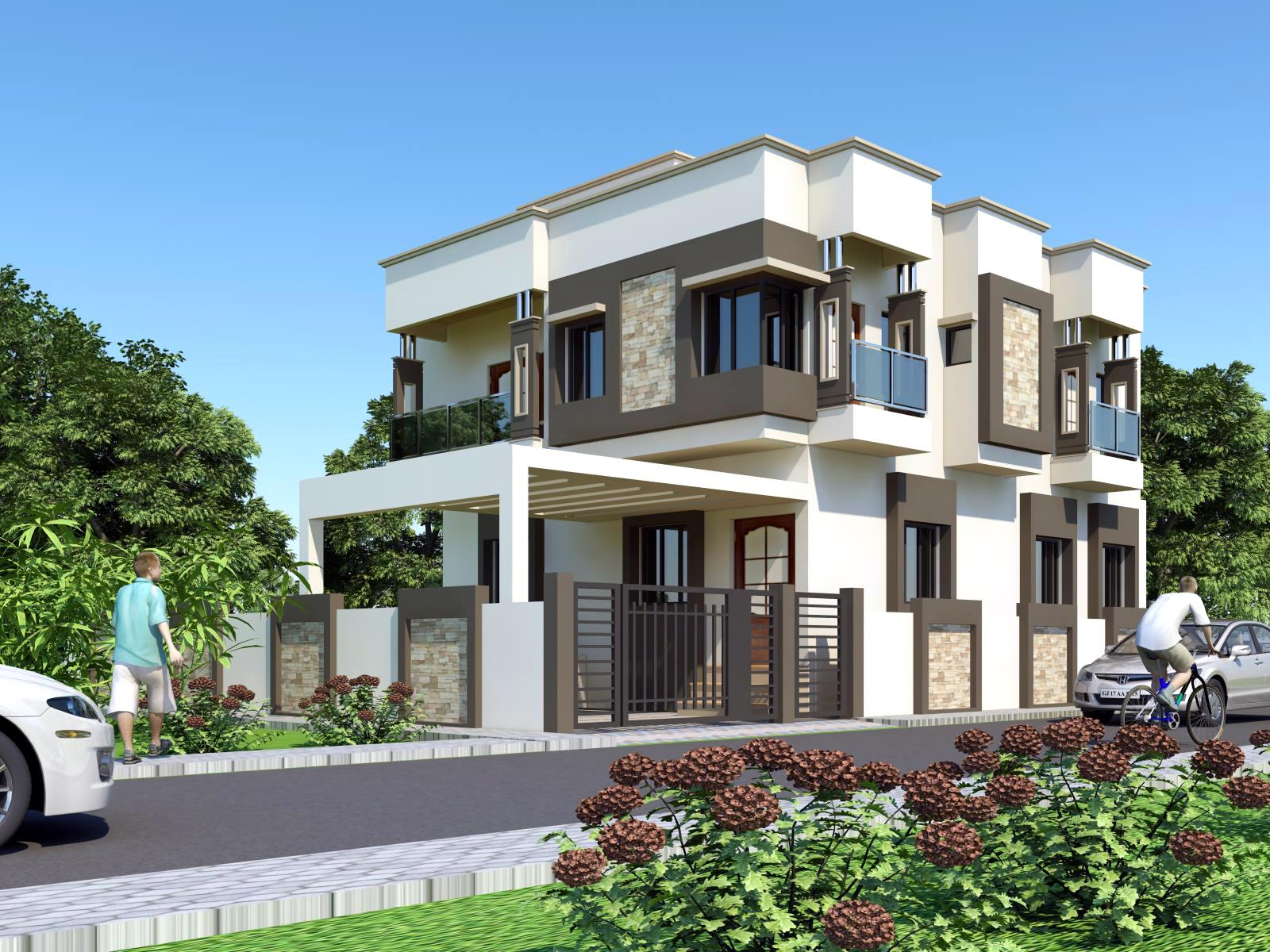 3d front india pakistan house design 3d for 3 storey building front elevation