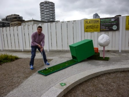 Putt Putt #2 Crazy Golf course art installation by TURF Projects in Croydon