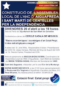 Acte de constitució de l'Assemblea Local d'Aiguafreda i Sant Martí de Centelles per la Independènci
