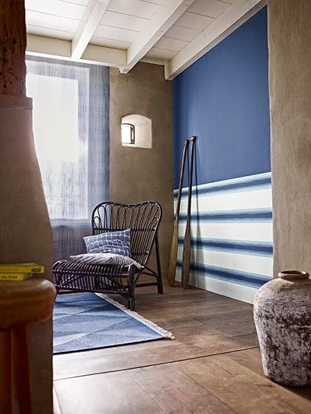 Decoracion marinera en tu hogar me gusta el papel pintado - Pared pintada a rayas verticales ...